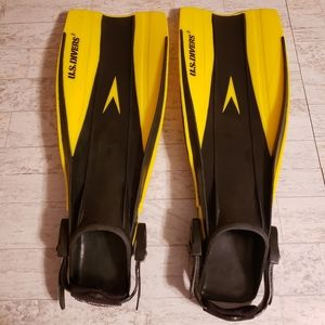 U.S. Divers Snorkel Swim Flippers Adjustable